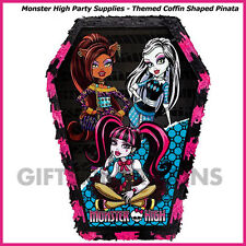 Monster High Pinata Birthday Party Supplies Pinyata Game Halloween Coffin Prop