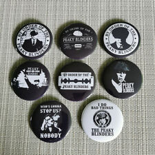 8 Stück Peaky Blinders / Button / Pins / Badges / 2.25 Inch / 56 mm / Top / Kult