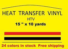 "Heat Transfer vinyl white 15 "" x 10 yards  Brand new Material HTV Free Shipping"