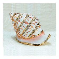 Kubla Crafts Jeweled & Enameled Trinket Box - SNAIL SHELL - #KUB-4177