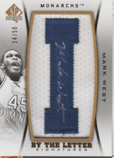 Mark West 2013 UD SP Authentic By the Letter autograph auto card BL-MW /50