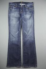 Women's 7 For All Mankind Jeans Boot Cut Size 29 Zipper Fly Rugged Look!