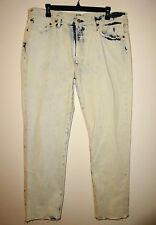 Levis 541 Athletic Fit Jeans Slight Tapered Leg Bleached Out Blue Size 36x32 NWT