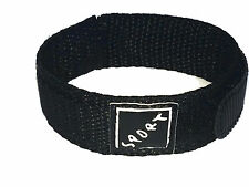 Black Velcro Watch Strap 20mm with Stainless Steel Ring