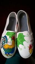 ROOSTER CHICKEN FARM BARNYARD POULTRY HAND PAINTED SHOES