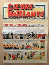 HERGE - TINTIN - COEURS VAILLANTS numéro 43 ( 27 octobre 1940)