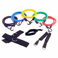 FH RESISTANCE BANDS WORKOUT EXERCISE YOGA 11 PIECE SET CROSSFIT FITNESS TUBES