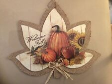Autumn Fall Harvest Door Wall Hanging Welcome fall Greetings