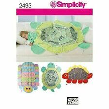 Simplicity Pattern 2493 Child's Adorable Rag Quilts-Dinosaur-Turtle -Caterpillar
