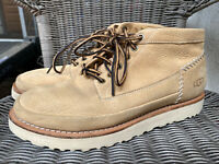UGG Campfire Trail Tan Chestnut Brown Leather Boots 1020405 Size 10 Retail $300