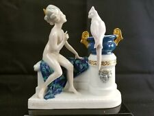 ROSENTHAL ART DECO FIGURINE - NUDE VENUS WITH PARROT-#288-A. OPPEL -1914-MINT