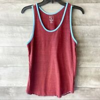 BDG urban outfitters women's red knit blue outlined casual tank top size: xs