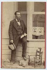 1870s Cabinet Card John Pitcher Spooner BUSINESS ADVERISMENT Photographer RARE!