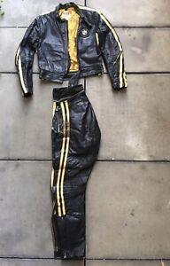 Vintage  Lewis Leathers Aviakit Racing Leathers Motorcycle Racing Suit 38