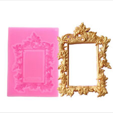 3D Silicone Picture Frame Silicone Mold Cake Decorating Chocolate Baking Mould