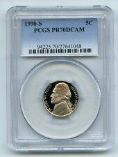 1990 S 5C Jefferson Nickel Proof PCGS PR70DCAM