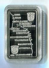 Feinsilberbarren Schwalm Eder Kreis Hessen Homberg Polierte Platte PP M_1089