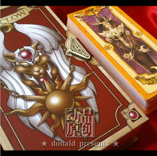 Anime Cardcaptor Sakura Clow Cards Set With Gold Clow Book Cosplay Gift 53 Piece