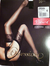 Fiore Jordana Large Size Sheer 20 Denier Stockings in Black
