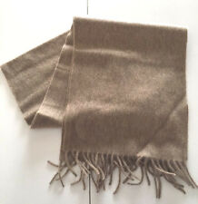 NWT NEW 100% CASHMERE Men's scarf CLASSIC Solid HEATHERED Camel Taupe Oatmeal