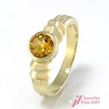 Ring mit brasilianischer Citrin ca. 0,67 ct - 9K/375 Gelbgold - 4,0 g -Größe 56