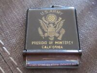 Vintage US Army Presidio of Monerey old Matchbook Cover military base U.S. case