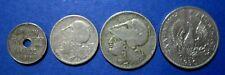 1912 - 1930  GREECE  COIN   10 LEPTA, 1,2,5  DRACHMAS