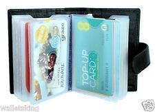 Soft BLACK Real Leather Credit Card Holder Case Wallet For Mens Womens - 210