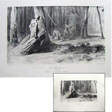 Jean-François Millet Les bûcherons c1900 Héliogravure Chauvet maîtres dessin