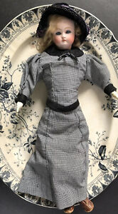 Bodice and Walking skirt for French Fashion or German bisque antique doll