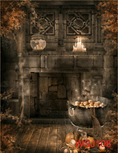 Halloween Backdrop Witch Castle Poison Background for Photographer Studio Props