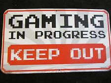 NEW GAMING KEEP OUT video game KIDS SIGN EMBOSSED RAISED METAL  home decor GIFT