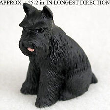Schnauzer Mini Resin Hand Painted Dog Figurine Statue Hand Painted Black