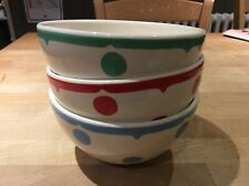 set of 3 white spotty Cath Kidston bowls