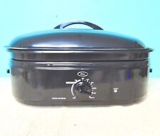 OSTER 18 QUART ELECTRIC 4 IN 1 TURKEY ROASTER OVEN BLACK ENAMEL IN BOX GUC