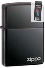 Zippo 150zl black ice windproof label Lighter + FLINT PACK