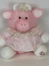 Vtg Puffalump Fisher Price Plush Pink Cow White Dress Pink Hearts 1986 #8001
