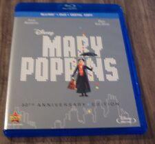Walt Disney MARY POPPINS BLU-RAY & DVD 2 Disc SET 50th Anniversary Edition