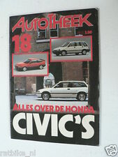 AUTOTHEEK 1985 NO 18 SPECIAL ISSUE ABOUT HONDA CIVIC,ALL MODELS,GL,GT,LUXE,CRX,S