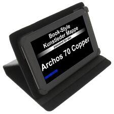 Funda para Archos 70 COOPPER LIBRO - Estilo Tableta FUNDA PROTECTORA Stand Negro