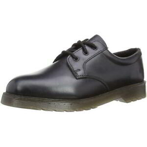 Grafters DM Uniform Security Mens Black Leather Air Cushioned Work Officel Shoes