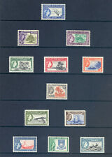 GILBERT & ELLICE ISLANDS SG 64-75 1956 QE II DEFINITIVE SET. MNH
