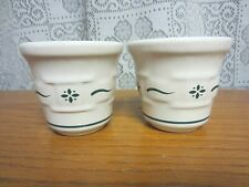 2~Votive Candle holders~Woven Traditions Heritage Green~by Longaberger~ Usa