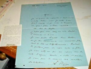 Autographe D'Origine Sur Lettre Manoscritta'Acteur Albert Prejean 19/5/1931