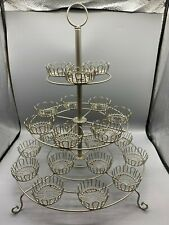 Crate and Barrel 3-Tier 24 Cupcake Stand Wedding Party Dessert Carrier Display