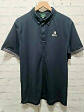 AG Adriano Goldschmied Green Label Eastridge Short Sleeve Polo Shirt Black Large