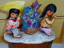 "GOEBEL LIMITED EDITION DEGRAZIA 3 PC  ""SPRING FLOWERS"" SIGNED FIGURINE  NEW"