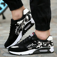 Mens Running Trainer Casual Lace Gym Walking Boys Sports Air Shoes Sneakers