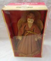 Sears Tree Top Angel Chritmas  Porcelain Head Hands Gold Trim 7193680 Vintage