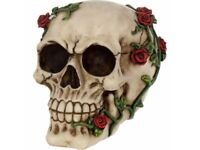 ROSE FROM BEYOND 15cm Nemesis Now Flower Skull Skeleton Ornament Gothic FREE P+P